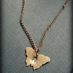 Hand Stamped Initial Mini Butterfly..