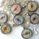 Map Necklace City of Your Choice
